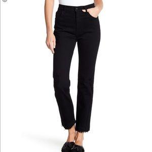 New $295 Derek Lam 10 Crosby Leah black jeans 25/0